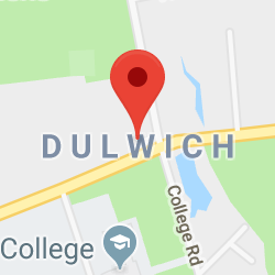 Cropped Google Map with pin over Dulwich