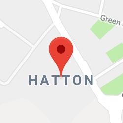 Cropped Google Map with pin over Hatton
