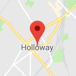 Cropped Google Map with pin over Holloway