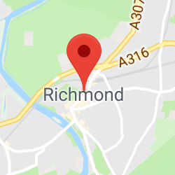 Cropped Google Map with pin over Richmond