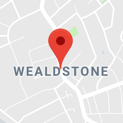 Cropped Google Map with pin over Wealdstone