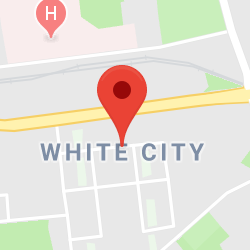 Cropped Google Map with pin over White City