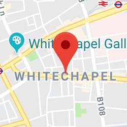 Cropped Google Map with pin over Whitechapel